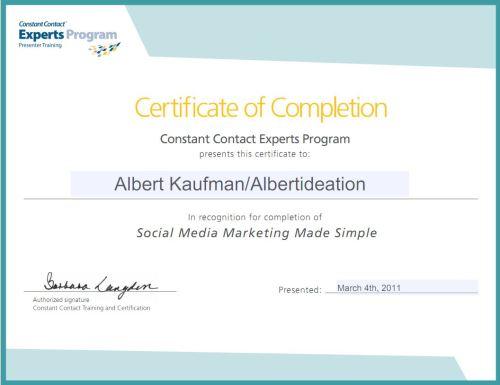 CC Expert Training Certificate